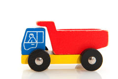 Wooden toy truck Royalty Free Stock Photo