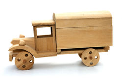 Wooden Toy Truck. A toy truck made of wood Stock Images