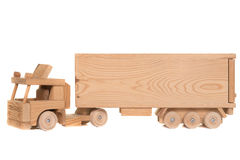 Wooden toy truck Stock Photos