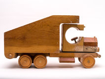 Wooden Toy Truck Side Royalty Free Stock Photo