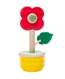 Wooden toy vase Royalty Free Stock Image
