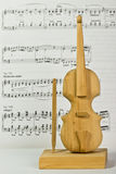 Wooden toy violin Stock Photo