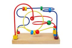 Wooden toy on white Royalty Free Stock Image