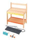 Wooden toy workstation table Royalty Free Stock Photography
