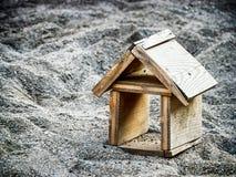 Wooden toyhouse Stock Photo