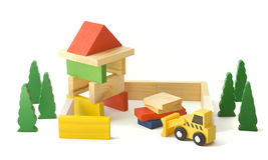 Wooden toys Stock Photos