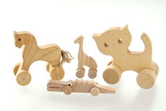 Wooden toys Royalty Free Stock Image
