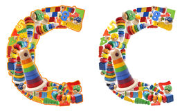 Wooden toys alphabet - letter C Stock Images
