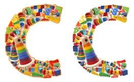 Wooden toys alphabet - letter C Stock Images