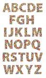 Wooden toys alphabet Stock Photos