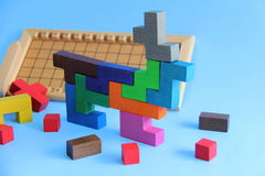 Wooden games kids Royalty Free Stock Photography