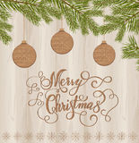 Wooden toys on christmas tree background. Vector illustration EPS 10 Stock Image