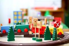Wooden toys closeup Stock Image