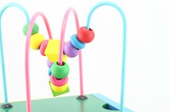 Wooden Toys ,developing game for kids Royalty Free Stock Images