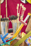 Wooden toys at the fair Royalty Free Stock Images