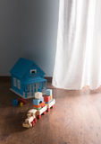 Wooden toys on the floor Royalty Free Stock Image