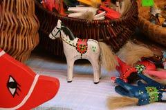 Wooden toys horses Royalty Free Stock Photos