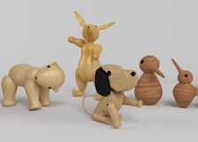 Wooden Toys selection Stock Photography