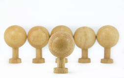 Wooden Toys. Standing on white background Stock Photo