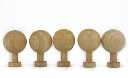 Wooden Toys. Standing on white background Stock Images
