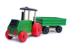 Wooden tractor-trailer Royalty Free Stock Photos