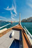Wooden traditional boat, Maltese tourist attraction.  Royalty Free Stock Photography