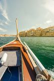 Wooden traditional boat, Maltese tourist attraction.  Stock Photography
