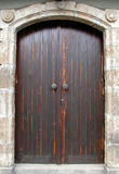 Wooden traditional  door. Wooden traditional door of Cyprus Stock Photo