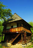 Wooden traditional house from past centurie. Beautiful nature spot with traditional old wooden house Stock Image