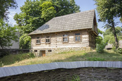 Wooden traditional romanian house Stock Photo