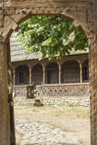 Wooden traditional romanian house Stock Images