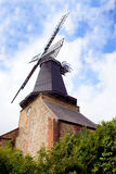 Wooden traditional  windmill Stock Photo