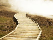 Wooden trail Royalty Free Stock Photography