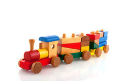 Wooden train Stock Photography