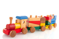 Wooden train Stock Photos