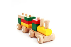 Wooden train Stock Images