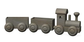 Wooden train Stock Photos