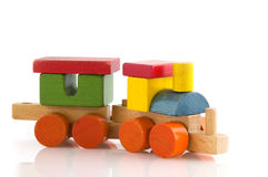Wooden Train Royalty Free Stock Photography