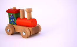 Wooden Train Engine Stock Photo