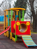 Wooden train Stock Image