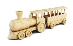 Wooden train set. 3d. stock illustration