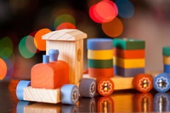 Wooden train toy. Christmas decor Stock Image