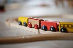 Wooden train toys Stock Photos