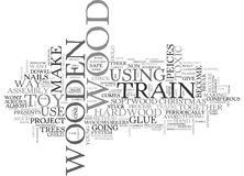 Wooden Trains Word Cloud Stock Photo
