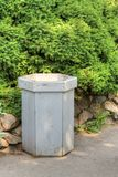 Wooden trash can Royalty Free Stock Photo