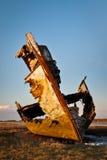 Wooden trawler wreck Stock Image