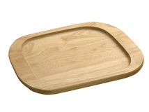 Wooden tray. Isolated over white background Royalty Free Stock Image