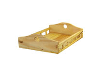 Wooden tray Stock Photo
