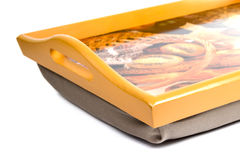 Wooden tray Stock Photography