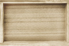 Wooden tray background Royalty Free Stock Photos